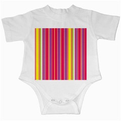 Stripes Colorful Background Infant Creepers