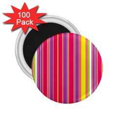 Stripes Colorful Background 2 25  Magnets (100 Pack)  by Simbadda