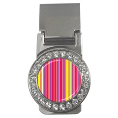 Stripes Colorful Background Money Clips (cz)  by Simbadda