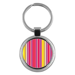 Stripes Colorful Background Key Chains (round)  by Simbadda