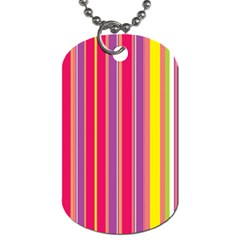 Stripes Colorful Background Dog Tag (two Sides) by Simbadda