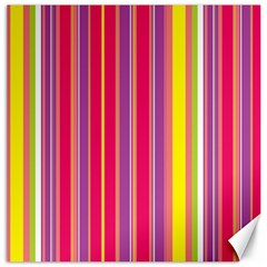 Stripes Colorful Background Canvas 16  X 16   by Simbadda