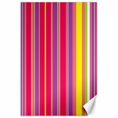 Stripes Colorful Background Canvas 24  X 36  by Simbadda