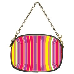 Stripes Colorful Background Chain Purses (two Sides)  by Simbadda