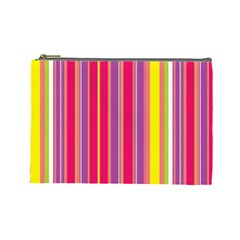 Stripes Colorful Background Cosmetic Bag (large)  by Simbadda