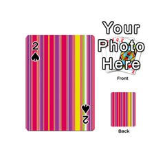 Stripes Colorful Background Playing Cards 54 (mini)  by Simbadda