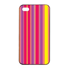 Stripes Colorful Background Apple Iphone 4/4s Seamless Case (black) by Simbadda