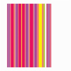 Stripes Colorful Background Small Garden Flag (two Sides)