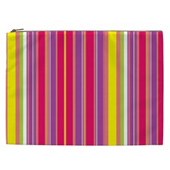 Stripes Colorful Background Cosmetic Bag (xxl)