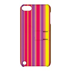 Stripes Colorful Background Apple Ipod Touch 5 Hardshell Case With Stand by Simbadda