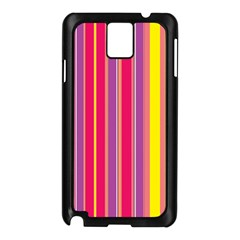 Stripes Colorful Background Samsung Galaxy Note 3 N9005 Case (black) by Simbadda