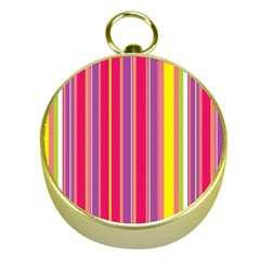 Stripes Colorful Background Gold Compasses by Simbadda