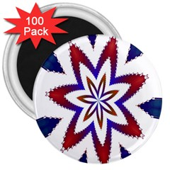 Fractal Flower 3  Magnets (100 Pack) by Simbadda