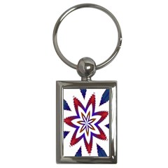 Fractal Flower Key Chains (rectangle)  by Simbadda
