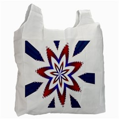 Fractal Flower Recycle Bag (one Side) by Simbadda