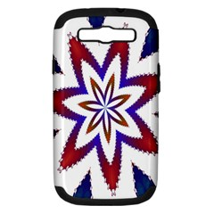 Fractal Flower Samsung Galaxy S Iii Hardshell Case (pc+silicone) by Simbadda