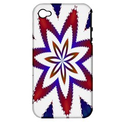 Fractal Flower Apple Iphone 4/4s Hardshell Case (pc+silicone) by Simbadda