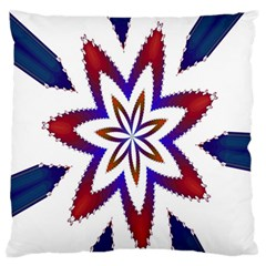 Fractal Flower Large Flano Cushion Case (one Side) by Simbadda