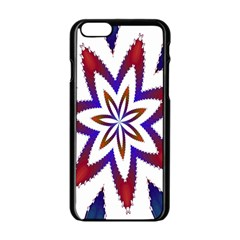 Fractal Flower Apple Iphone 6/6s Black Enamel Case by Simbadda