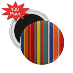 Stripes Background Colorful 2 25  Magnets (100 Pack)  by Simbadda