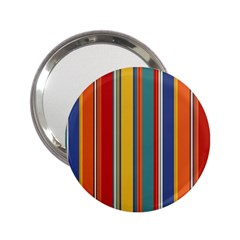 Stripes Background Colorful 2 25  Handbag Mirrors by Simbadda