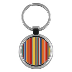 Stripes Background Colorful Key Chains (round)  by Simbadda