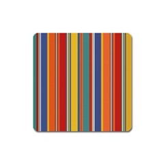 Stripes Background Colorful Square Magnet by Simbadda