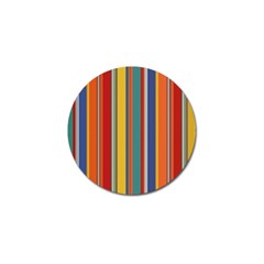 Stripes Background Colorful Golf Ball Marker