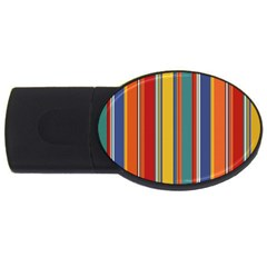 Stripes Background Colorful Usb Flash Drive Oval (2 Gb)
