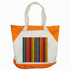Stripes Background Colorful Accent Tote Bag by Simbadda