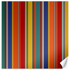 Stripes Background Colorful Canvas 16  X 16   by Simbadda