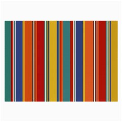 Stripes Background Colorful Large Glasses Cloth by Simbadda