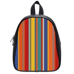 Stripes Background Colorful School Bags (small)
