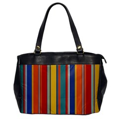 Stripes Background Colorful Office Handbags by Simbadda