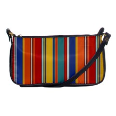 Stripes Background Colorful Shoulder Clutch Bags