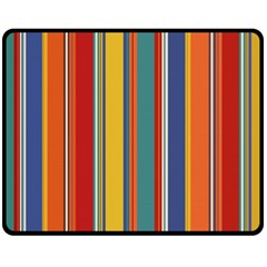 Stripes Background Colorful Fleece Blanket (medium)  by Simbadda