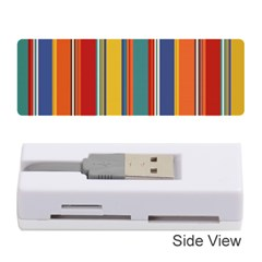 Stripes Background Colorful Memory Card Reader (stick)