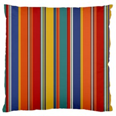 Stripes Background Colorful Large Cushion Case (two Sides) by Simbadda