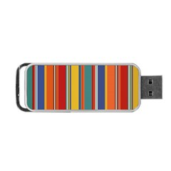Stripes Background Colorful Portable Usb Flash (one Side) by Simbadda