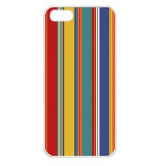 Stripes Background Colorful Apple Iphone 5 Seamless Case (white) by Simbadda