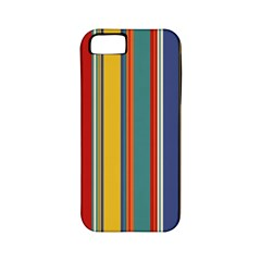 Stripes Background Colorful Apple Iphone 5 Classic Hardshell Case (pc+silicone) by Simbadda