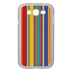 Stripes Background Colorful Samsung Galaxy Grand Duos I9082 Case (white) by Simbadda