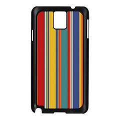Stripes Background Colorful Samsung Galaxy Note 3 N9005 Case (black) by Simbadda
