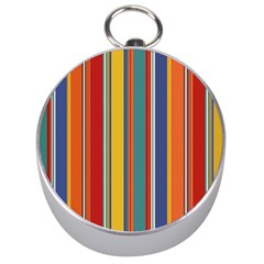 Stripes Background Colorful Silver Compasses by Simbadda