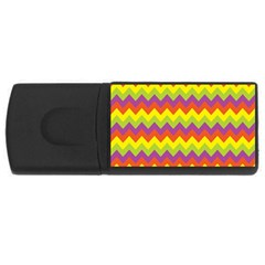 Colorful Zigzag Stripes Background Usb Flash Drive Rectangular (4 Gb) by Simbadda