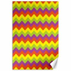 Colorful Zigzag Stripes Background Canvas 24  X 36  by Simbadda