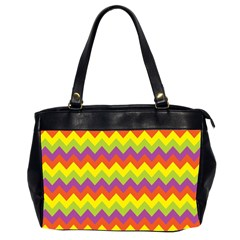 Colorful Zigzag Stripes Background Office Handbags (2 Sides)