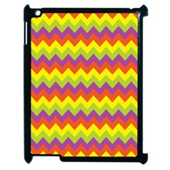 Colorful Zigzag Stripes Background Apple Ipad 2 Case (black)
