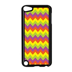 Colorful Zigzag Stripes Background Apple Ipod Touch 5 Case (black) by Simbadda