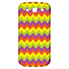 Colorful Zigzag Stripes Background Samsung Galaxy S3 S Iii Classic Hardshell Back Case by Simbadda